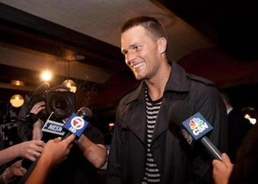 Tom Brady at Town Stove and Spirits.